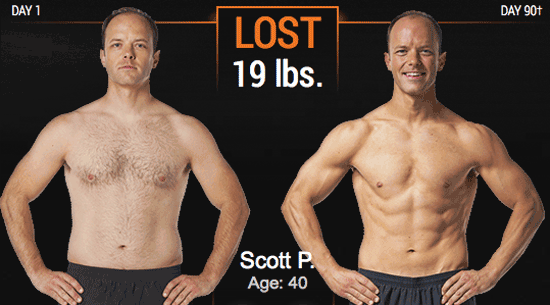 p90x3 before  u0026 after results